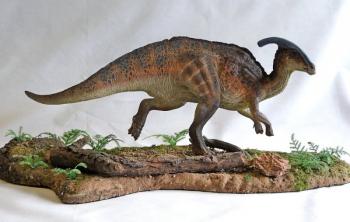 """Паразауролоф – динозавр с большой """"трубой"""" на голове"""